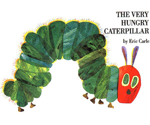Nanny reading, children reading skills THE VERY HUNGRY catepillar favorite books for toddlers family